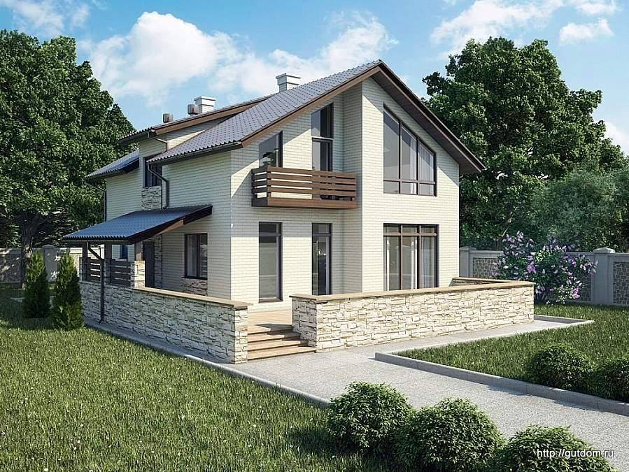 Проекты домов из газоблока