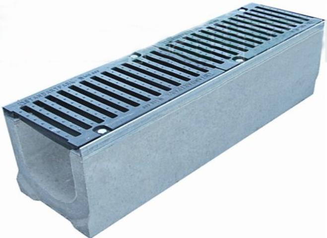 лоток бетонный с чугунной решеткой